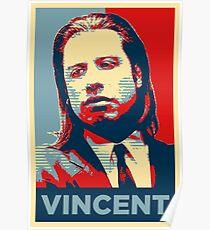 Vincent Pulp Fiction (Obama Effect) Poster