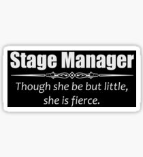 Stage Manager Gifts Sticker
