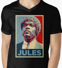Jules Pulp Fiction (Obama Effect) Men's V-Neck T-Shirt