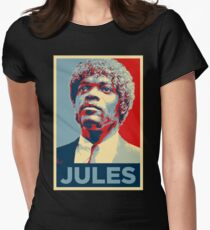 Jules Pulp Fiction (Obama Effect) Fitted T-Shirt