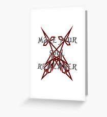 sword art Greeting Card