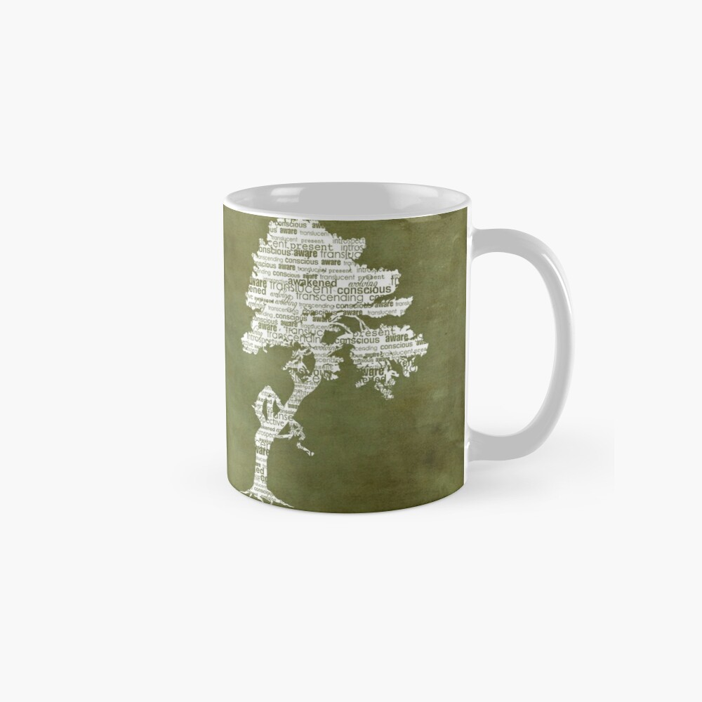 The Bodhi Tree of Awareness (White Version) Mug