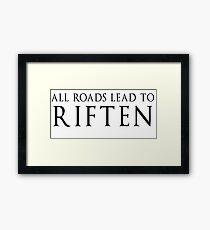 SKYRIM RIFTEN Framed Print
