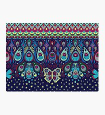 Midnight butterflies - Bohemian pattern by Cecca Designs Photographic Print