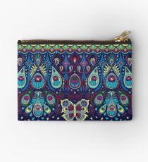 Midnight butterflies - Bohemian pattern by Cecca Designs Studio Pouch