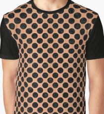 CIRCLES2 BLACK MARBLE & NATURAL RED BIRCH WOOD (R) Graphic T-Shirt