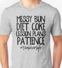 Camiseta unisex Messy Bun, Diet Coke, Planes de clase