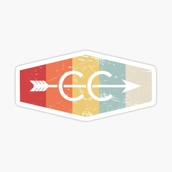 Retro Vintage Cross Country Logo Sticker