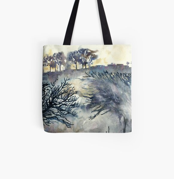 Good Friday, The Ridgeway, Oxfordshire - Original watercolour landscape by Francesca Whetnall  All Over Print Tote Bag
