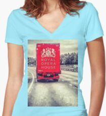 Royal Opera House Truck Women's Fitted V-Neck T-Shirt