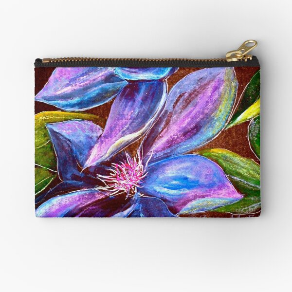 Flowers...Clematis Zipper Pouch