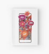 Say Cheese! Laughing and Smiling Flowers in Orange and Pink | Surrealistic Art | PetitPlat.fr Hardcover Journal