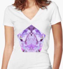 Magenta's Monster Women's Fitted V-Neck T-Shirt
