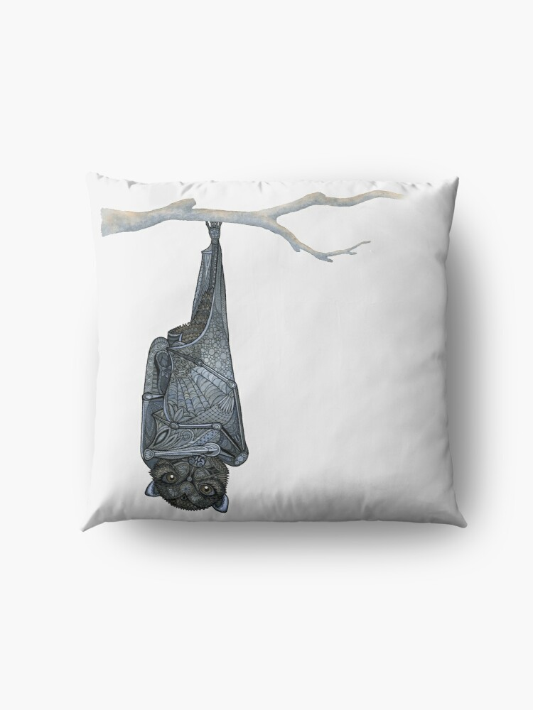 Alternate view of Inquisitive Bat Floor Pillow