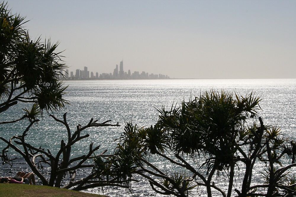Surfers Paradise from Burleigh Heads by AnnetteK