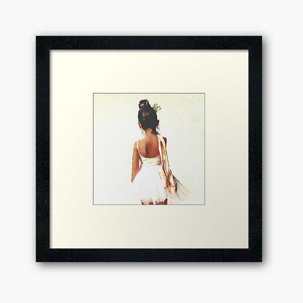 African American Ballerina Framed Art Print