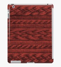 Cardinal Red Cable Knit iPad Case/Skin