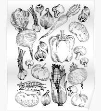 Market Fresh Vegetables Poster