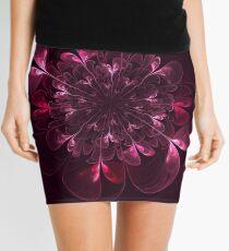 Flower In Bordo Mini Skirt