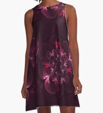 Flower In Bordo A-Line Dress