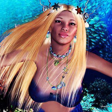 Underwater Mermaid Babe # 1 by FractalKing