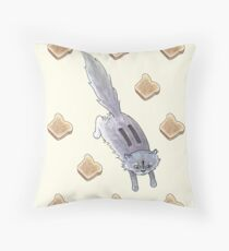 Toaster the Cat Throw Pillow