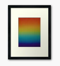 Colorful pattern Framed Print