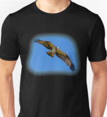 Flying osprey with a target in sight Unisex T-Shirt