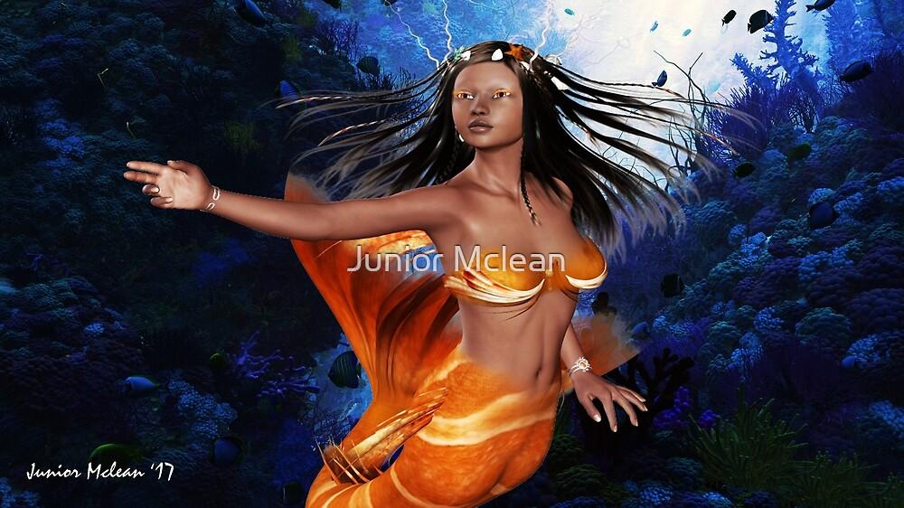 Ethnic Fantasy Mermaid by Junior Mclean