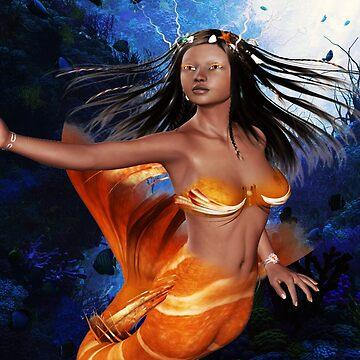 Ethnic Fantasy Mermaid by FractalKing