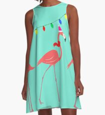 Flamingo Christmas Island A-Line Dress