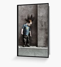 Punx not dead ... he just hasn't grown up yet.. Greeting Card