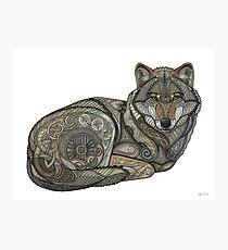 Nordischer Wolf Fotodruck