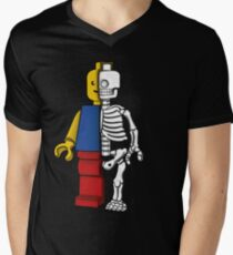 """Lego anatomy"" Men's V-Neck T-Shirt"