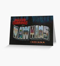 Seasons Greetings from Hawkins, Indiana Greeting Card