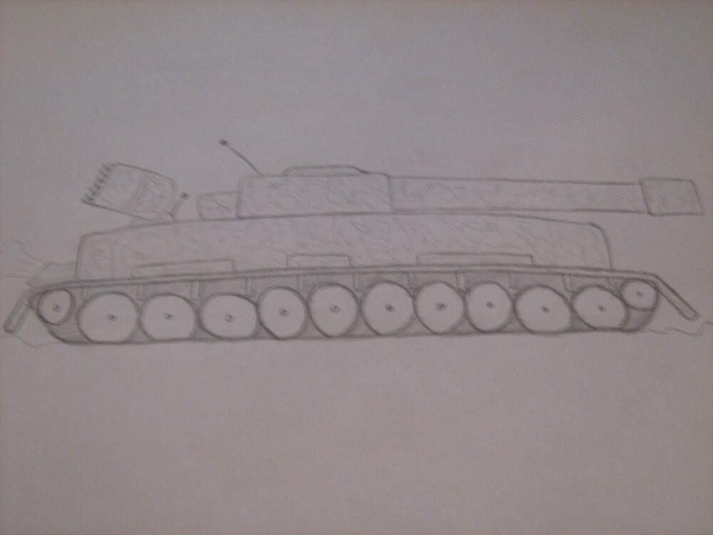 tank drawing by samgraffiti
