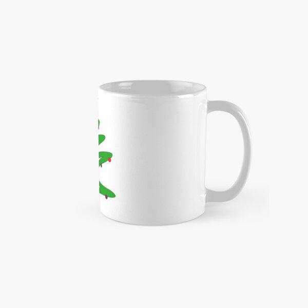 Green Doodle Christmas Tree Classic Mug