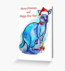 Christmas 'Kandy' Kangaroo Greeting Card
