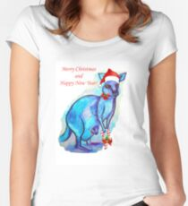 Christmas 'Kandy' Kangaroo Women's Fitted Scoop T-Shirt