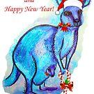 Christmas 'Kandy' Kangaroo by Linda Callaghan