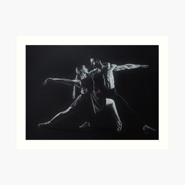 Dancing Shadow and light Art Print