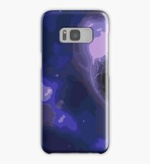 Blue Space - Highest Quality Vector Art Samsung Galaxy Case/Skin