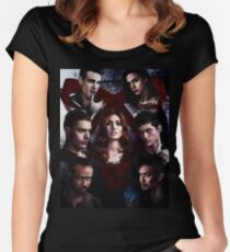 Shadowhunters - Poster #1 (2nd version) Women's Fitted Scoop T-Shirt