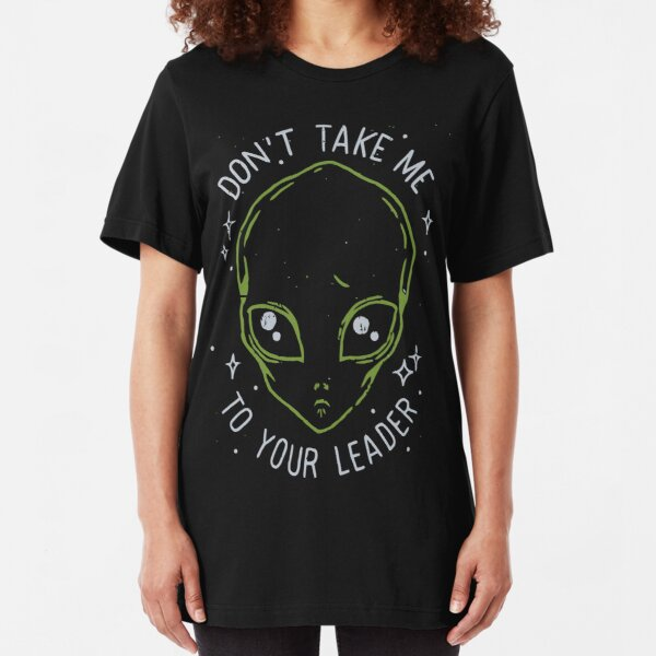 The Flash (Cisco's shirt) - Don't Take Me To Your Leader Slim Fit T-Shirt
