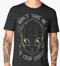 The Flash (Cisco's shirt) - Don't Take Me To Your Leader Men's Premium T-Shirt