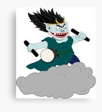 Raijin - Japanese God of Thunder & Lightning Canvas Print