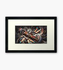 Grisly Totem Framed Print