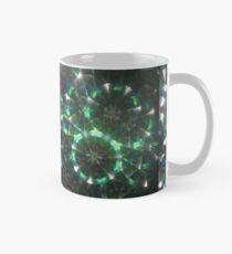 Grüne Kometen-Kaleidoskop-Mandala Tasse