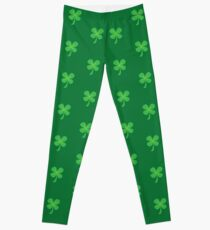 Green clover shamrock for St Patrick's day cute! Leggings