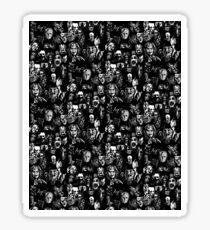 horror characters film print Sticker